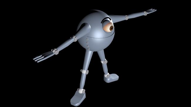 Ранняя модель главного героя. Моделлер: Надин Морозова