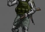 """Перед нами - типичный """"опытный"""" бандит. Чем славны эти ребята? Они убийцы и головорезы, носящие с собой довольно редкие образцы оружия, которые утянули со складов и сняли с трупов зарубежных миротворцев. Помимо них, почти не расстаются с охотничьими ружьями и другими дробовиками. В ближнем бою двигаются чуть медленнее """"банд тов-новичков"""" из-за более прочной брони, но и она же усложняет борьбу с ними."""