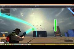 Лазерная пушка и система подсветки траектории снаряда.